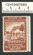 B46-51 CANADA Societe St-Jean-Baptiste SSJB 06c MNG St Denis Brown - Local, Strike, Seals & Cinderellas
