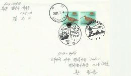 Korea 2001 Bird On Commercial Cover - Korea (...-1945)