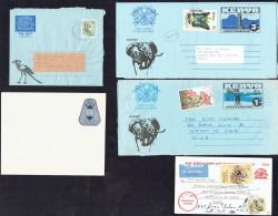 5 Postal Stationeries: 3 Aerogrammes Used, 1 Enveloppe Unused, 1 Postcard Used - Kenya (1963-...)