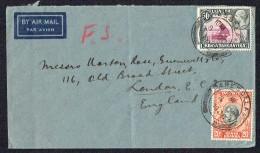 1936 Air Letter To UK  SG 114, 116 - Kenya, Uganda & Tanganyika