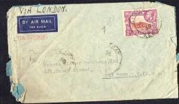 1939 Air Letter To USA  GeoV 2/- SG 119 - Kenya, Uganda & Tanganyika