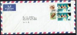 1975  Air Letteer To USA - Mixed Franking  Kenya  And K-U-T - Kenya (1963-...)
