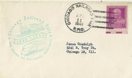 United States 1948  100 Years Of Railroad Congress Souvenir Cover - Brieven En Documenten