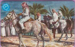 Télécarte Qatar °° Cavaliers Qataris-30QR-4114 - Qatar