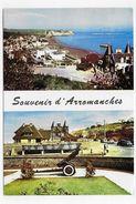 (RECTO / VERSO) ARROMANCHES EN 1963 - MULTIVUES AVEC CANON -  BELLE FLAMME - CPSM GF VOYAGEE - Arromanches