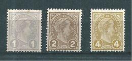 Luxembourg Timbres De 1895 N°69 A 71  Neufs ** Cote 15€ - 1895 Adolphe De Profil