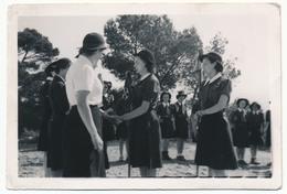 SCOUTISME - 12 Petites Photos - Guides De France - Camp De Champagne S/Seine - 1946 - Scouting