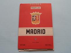 MADRID Foldex Miniplan ( Edit. Almax : Excale 1/10.000 ) 2me Ed. / Lineas Tranvias & Buses !! - Europe