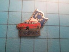 PIN1615b Pin's Pins / Rare , Grand Pin's  VOITURE ROUGE TOYOTA CARINA EPSILON DRAPEAU EUROPE  ,  Belle Qualité ;  Marqua - Toyota
