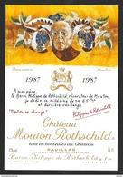 Etiquette De Vin 1987 MOUTON ROTHSCHILD Dessin Inhédit De Hans ERNI - Illustrators & Photographers