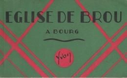 """17 / 8 / 342   -    CARNET  CP  """"  ÉGLISE  DE  BROU  """" - Cartes Postales"""