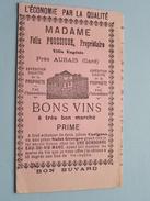 Villa Eugènie : Madame Félix POUSSIGUE D'AUBAIS ( Gard ) Bon Buvard ( Folder / Pliant : Voir Photo ) ! - Buvards, Protège-cahiers Illustrés