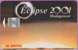 Télécarte Madagascar °° Eclipse Solaire De 2001 - 01A8 - Madagascar
