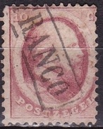 1864  Koning Willem III 10 Cent Rood Getand NVPH 5 - Oblitérés