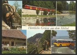 SIHLTAL Zürich Postauto Grüsse Albispass Tierpark Langenberg Wanderpardies 1978 - ZH Zürich