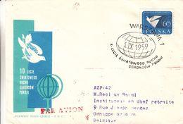Pologne - Lettre De 1959 - Oblit Warsawa - - 1944-.... République