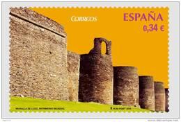 ESPAÑA 2010 - MURALLA DE LUGO - PATRIMONIO DE LA HUMANIDAD - EDIFIL Nº 4592 - 1931-Oggi: 2. Rep. - ... Juan Carlos I