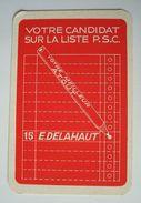 Joker PSC E. Delahaut. - Publicité électorale. - Cartes à Jouer Classiques
