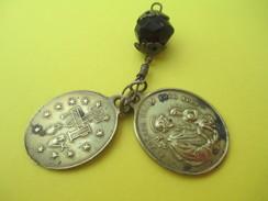 2 Médailles Religieuses Anciennes/Saint Joseph/Patrona Provinciae Luxemburgensis/Ô Marie/Fin XIXéme Siécle        CAN513 - Religión & Esoterismo
