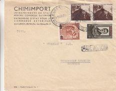 Roumanie -  Lettre De 1952 ° - Oblit Bucaresti - Exp Vers Dubendorf En Suisse - Cachet Buc Gare Du Nord - étranger - Covers & Documents
