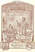"""RARE ET BEL EX-LIBRIS ANCIEN - """"ALBERTI TAUFFREUND - ARGENTORATI"""" - (8 X 12 Cm) - TB. - Ex-libris"""