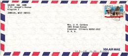 Jamaica Air Mail Cover Sent To USA Single Franked - Jamaica (1962-...)