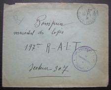 1939 Lettre En Fm Cachet 82eme Régiment Le Vaguemestre Dépôt Pour Le 197eme R.A.L.T Secteur 307 - Marcophilie (Lettres)