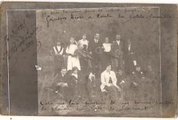 Photo Carte - écrite Par Cycliste Besacier - 1915 Haute Alsace - Photo De Famille (adressée à Cours La Ville Rhône) - Guerre 1914-18