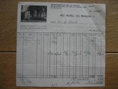 OSLO (NORVEGE) 1954 - RITZ HOTELL - Autres