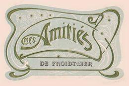 Amitiés De Froidthier  Cachet Postal Thimister Clermont 1908 Carte Art Nouveau / Rare - Thimister-Clermont