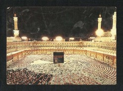 Saudi Arabia Picture Postcard Holy Mosque Ka´aba Mecca Night Scene View Card AS PER SCAN - Saudi Arabia