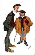 Attribuée à Illustrateur Canpory - Personnages Pipe Cigare BKWI 465-6 - Autres Illustrateurs