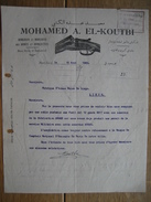 PORT-SAÏD (EGYPTE) 1929 - MOHAMED A. EL-KOUTBI - Armurier & Marchand D'armes & Munitions - Autres