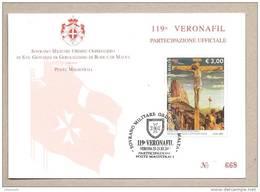 SMOM - Cartolina Con Annullo Speciale: Partecipazione A Veronafil 2012 - 23.11.2012 - Malte (Ordre De)