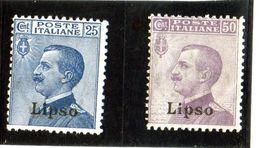 P - 1912 Italia - Lipso - Francobolli D'Italia Soprastampati (linguellati) - Egeo (Lipso)