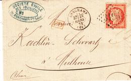 LAC Affr Y&T 38 Obl GC 3195 + TàD RONCHAMP Du 27 MARS 73 Adressée à Mulhouse - Marcophilie (Lettres)
