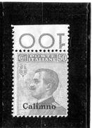 P - 1912 Italia - Calimno - Francobollo D'Italia Soprastampato (linguellato) - Egeo (Calino)