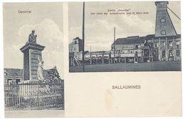 """Cpa Sallaumines - Denkmal, Zeche """" Courrier """"  ... Katastrophe 1908 ( Mine ) - France"""