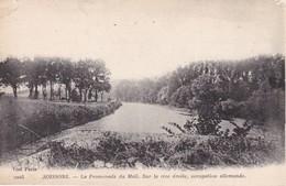 SOISSONS LA PROMENADE DU MAIL SUR LA RIVE DROITE OCCUPATION ALLEMANDE - Soissons