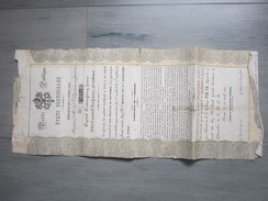Etats Pontificaux,stato Pontificio,1866,emition N°97437 - Hist. Wertpapiere - Nonvaleurs
