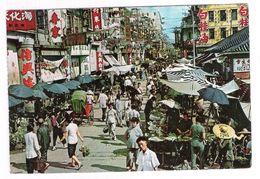 HONG KONG - MARKET EXISTING IN THE OPEN STREET KOWLOON  - VIAGGIATA 1967 - (926) - Cina (Hong Kong)