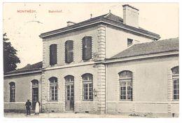 Cpa Montmédy - Bahnhof ( Gare )  Tampon Kommandantur Nr2 Au Verso - Montmedy