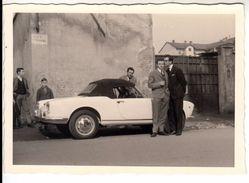 AUTO CAR VOITURE ALFA ROMEO GIULIETTA SPIDER PININFARINA TARGA TORINO - FOTO ORIGINALE ANNI 60 - Cars