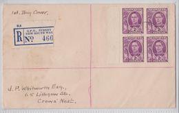 Registerd FDC GPO Sydney Australia 1944 Sent To Crows Nest NSW - FDC