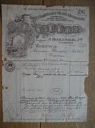 Factuur Geillustreerd 1913 VLAARDINGEN - A. HOOGENDIJK Jzn. - Eigene Dampfschiffe Fûr Den Häringsfang - Netherlands