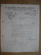 ZURICH 1942 - W. GLASER - Armurier - Armes, Munitions, Articles De Chasse - Suisse