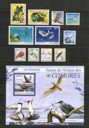 Vögel ** Lot - Kamerun Mauretanien Komoren Südkorea ... // Birds - Konvolute & Serien