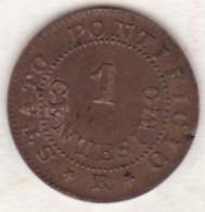 Pie XI / Pio IX. 1 Centesimo 1866 An. XXI. Zecca Di Roma - Vatican