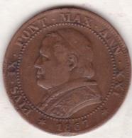 Pie XI / Pio IX. 1 Soldo 1867 An. XXI, Zecca Di Roma - Vatican