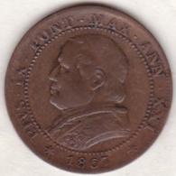 Pie XI / Pio IX. 1 Soldo 1867 An. XXI, Zecca Di Roma - Vaticano